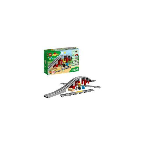 Lego 10872 DUPLO Eisenbahnbrücke und Schienen, Konstruktionsspielzeug