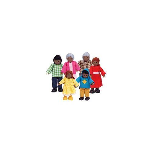 Hape Puppenfamilie - Dunkle Hautfarbe