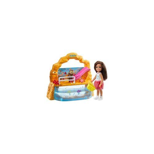 Mattel Barbie Chelsea Puppe und Aquarium Spielset