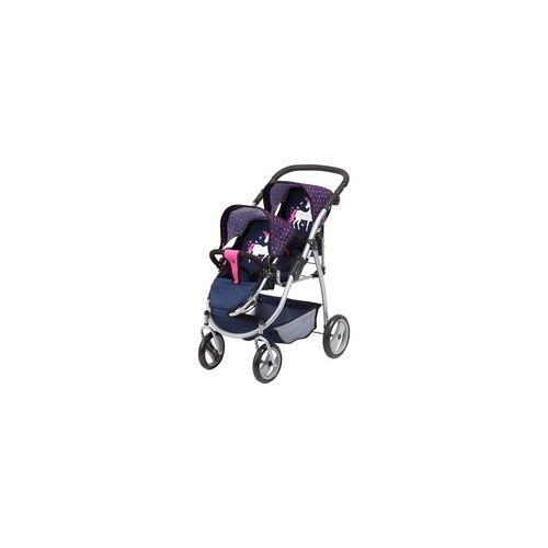 Bayer Design Zwillingswagen mit Einhorn, Puppenwagen