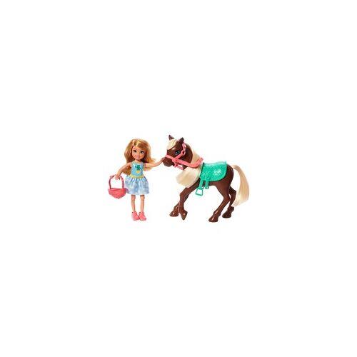 Mattel Barbie Chelsea Puppe & Pony (blond)
