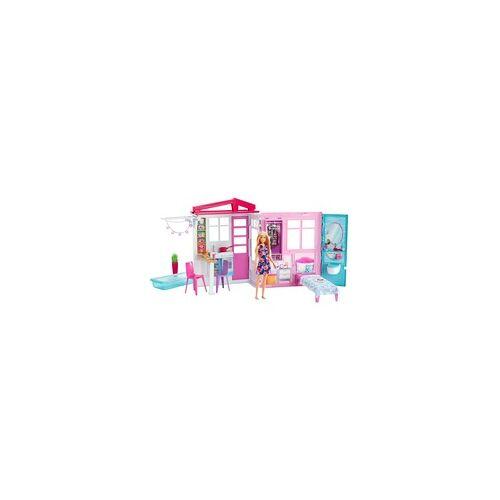 Mattel Barbie Ferienhaus mit Möbeln und Puppe