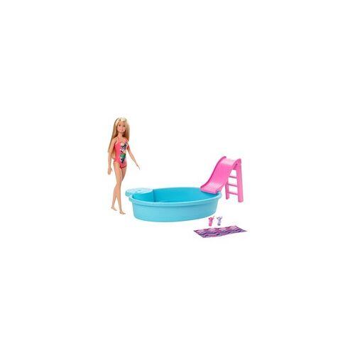 Mattel Barbie Pool und Puppe (blond)