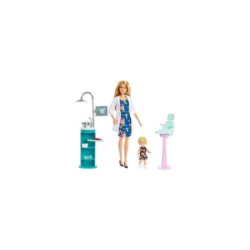 Mattel Barbie Zahnärztin-Puppe (blond) und Spielset