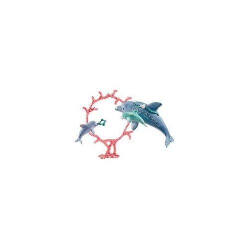 Schleich Delfin-Mama mit Babies, Spielfigur