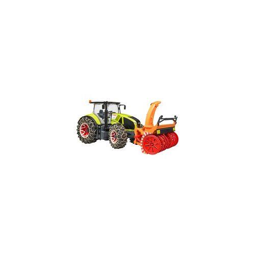 Bruder Claas Axion 950 mit Schneeketten und Schneefräse, Spielfahrzeug