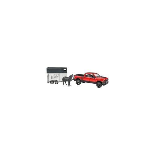 Bruder RAM 2500 Power Wagon mit Pferdeanhänger und Pferd, Spielfahrzeug