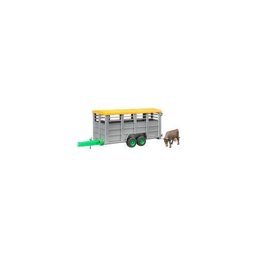 Bruder Viehtransportanhänger mit Kuh, Spielfahrzeug