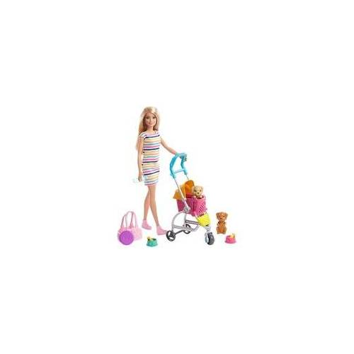 Mattel Barbie Hunde-Buggy Spielset mit Puppe (blond)