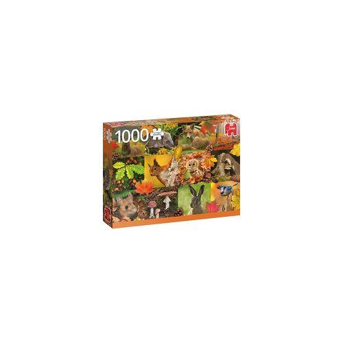 Jumbo Puzzle Tiere im Herbst
