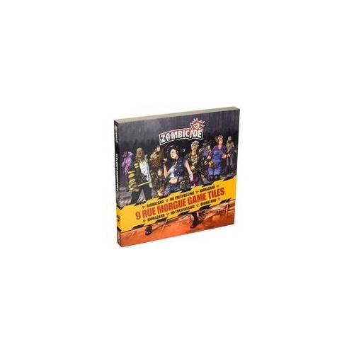 Asmodee Zombicide: 9 Rue Morgue Game Tiles, Brettspiel