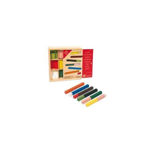 Jumbo Rechenstäbe 10x10 (Holzbox), Lernspiel