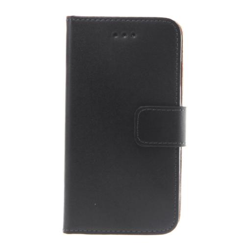 Slim Leder Bookstyle Tasche für HTC A9, Schwarz