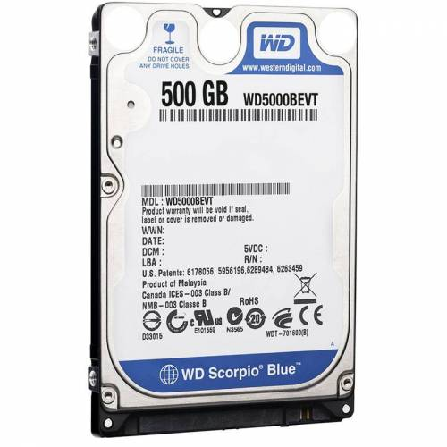 Western Digital 500GB Western Digital WD5000BEVT
