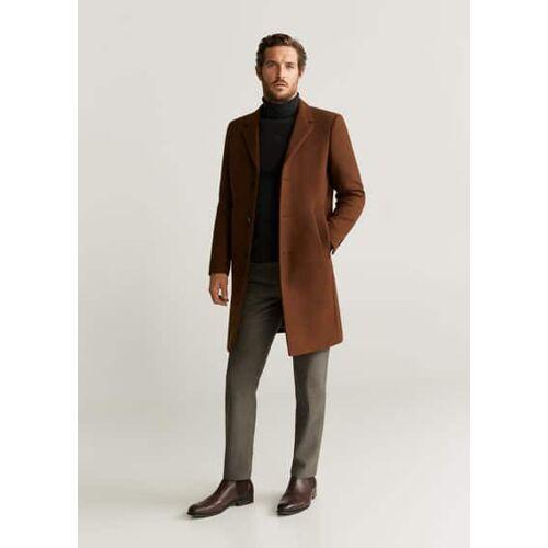 MANGO MAN Tailored mantel aus schurwolle