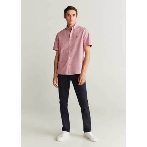 MANGO MAN Slim fit hemd mit stickmuster