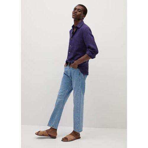 MANGO MAN Slim fit-hemd aus 100 % leinen