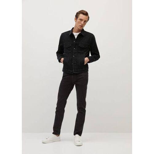 MANGO MAN Schwarze jeansjacke