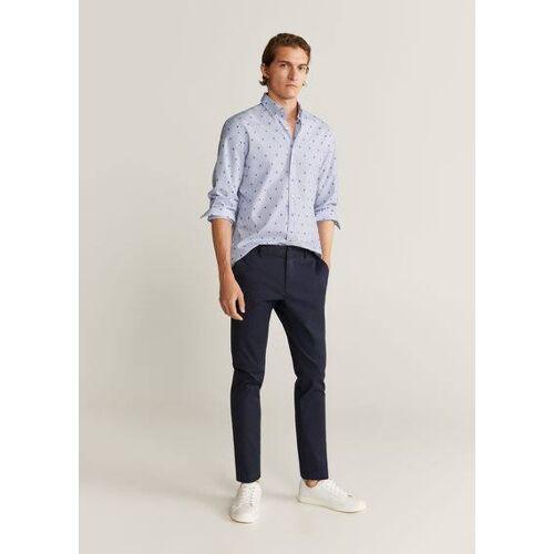 MANGO MAN Besticktes slim fit hemd
