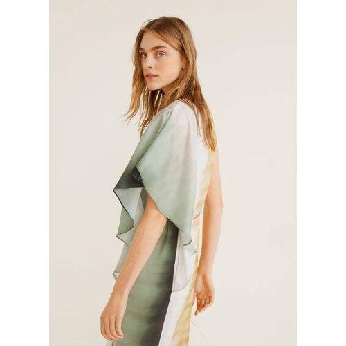 MANGO Asymmetrisches tie-dye kleid