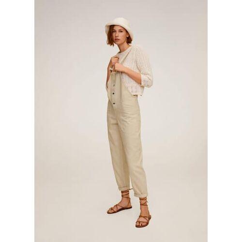 MANGO Lange jeans-latzhose