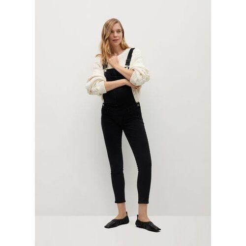 MANGO Jeans-latzrock maternity
