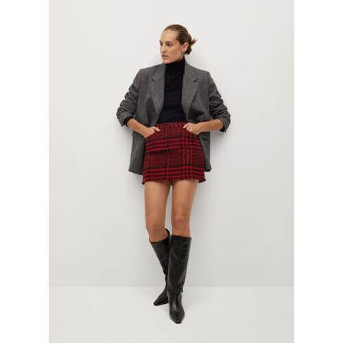 MANGO Karierter minirock aus tweed