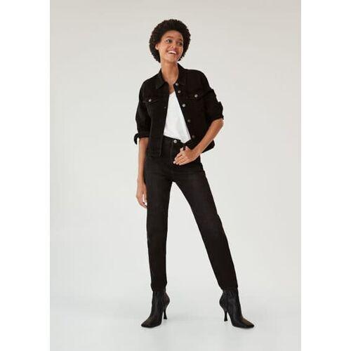 MANGO Schwarze jeansjacke