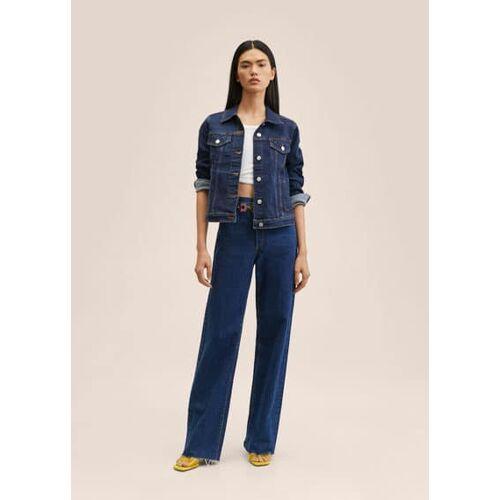 MANGO Dunkle jeansjacke
