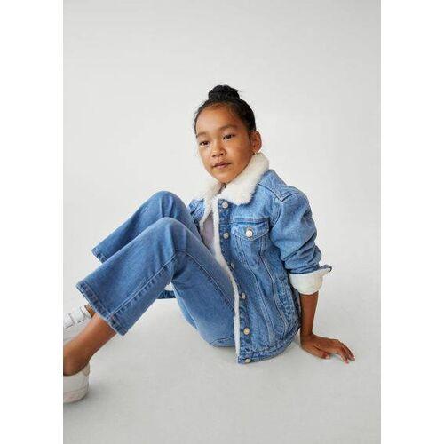 MANGO KIDS Jeansjacke mit kunstshearling-innenfutter