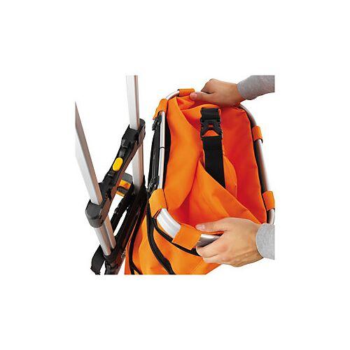 T-Befestigungsschiene, aufklappbare Tasche