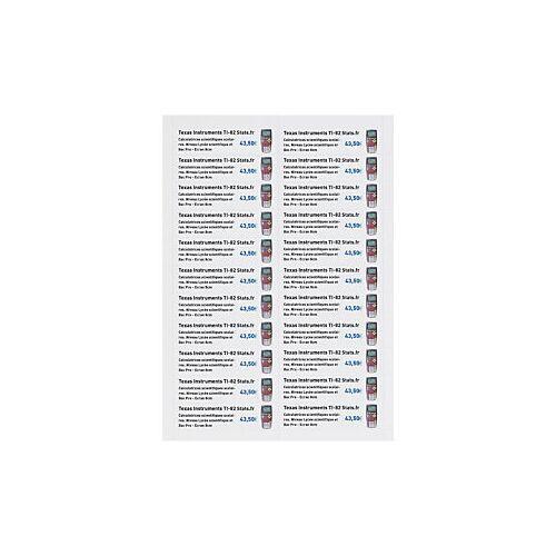Bristolpapier-Etiketten, 20 x 95 mm
