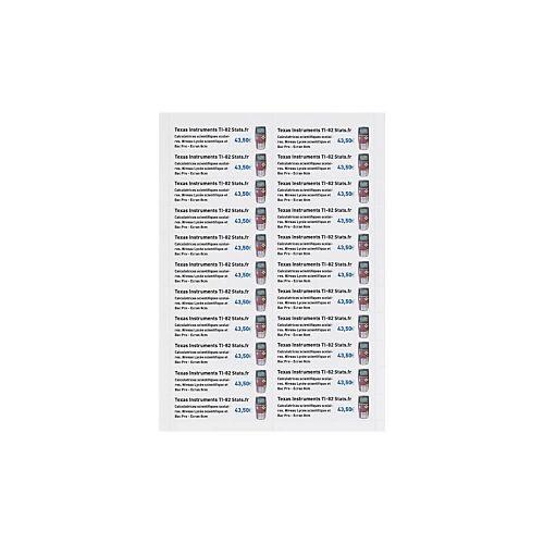 Bristolpapier-Etiketten, 40 x 95 mm
