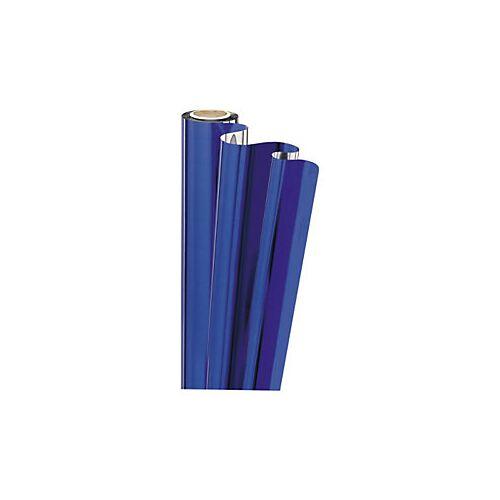 Geschenkfolie in Metalloptik blau