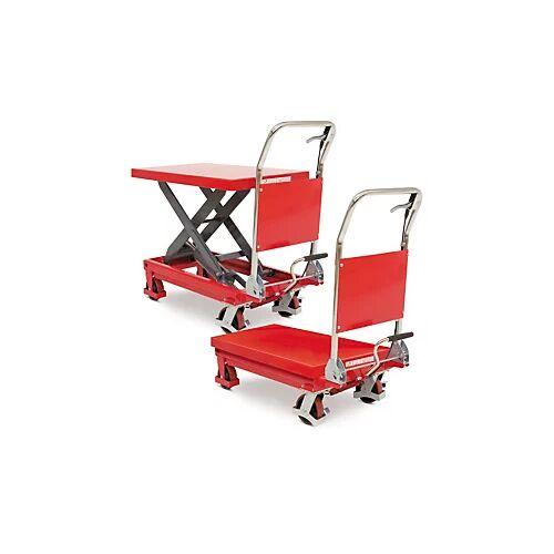 Scherentischhubwagen rot 300 kg