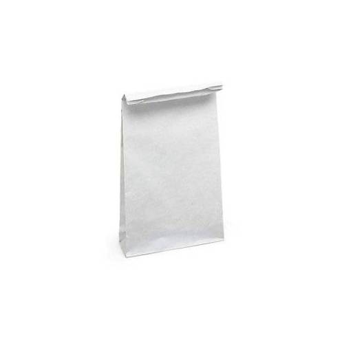 Stabile  18 x 44 x 8 cm Papierbeutel ohne HKV weiß 18 x 44 x 8 cm - Stärke 100 g/m²