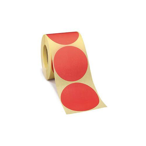 Wiederverwendbare Punkte Rot D 70 mm