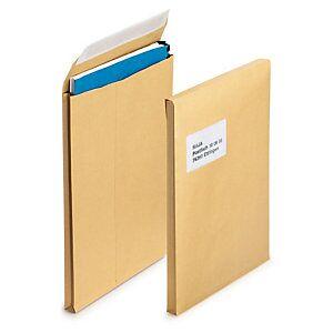 Braun Versandtaschen mit Seitenfalten, braun, DIN B4, ohne Fenster, 40 mm Falte