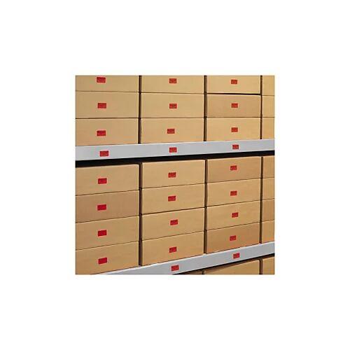 Ablösbare farbige Papier-Etiketten 45,7 x 21,2 mm rot