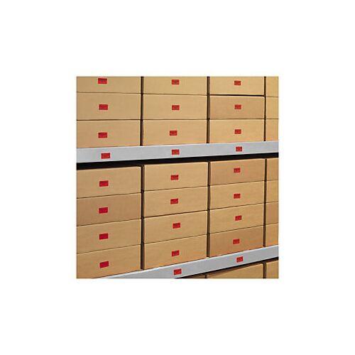 Ablösbare farbige Papier-Etiketten 99,1 x 143,5 mm rot