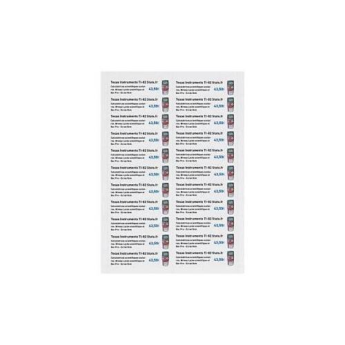 Bristolpapier-Etiketten, 50 x 95 mm
