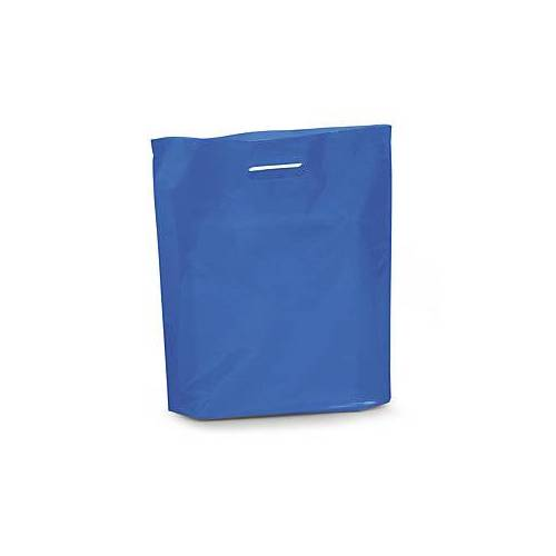 Bunte Plastiktüten blau