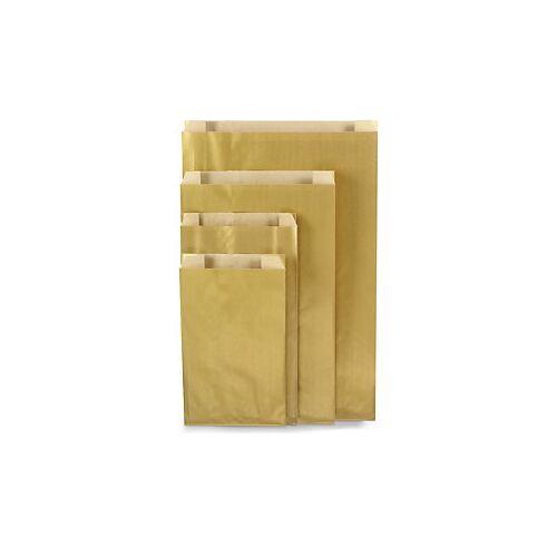 Edle Papierbeutel 160 x 80 x 250 mm Gold