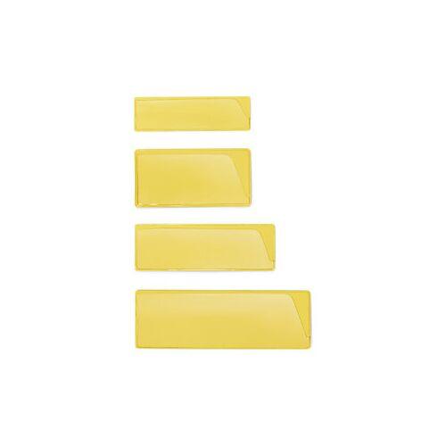 Etikettenhalter in Gelb