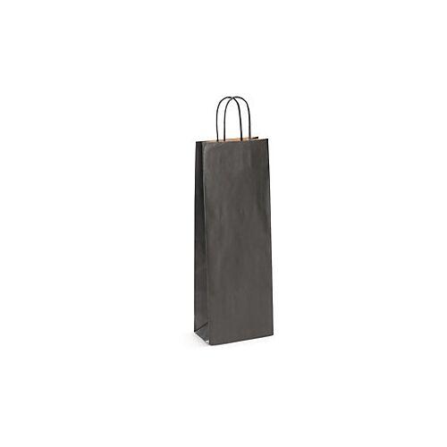 Flaschentasche schwarz 140 x 80 x 390 mm
