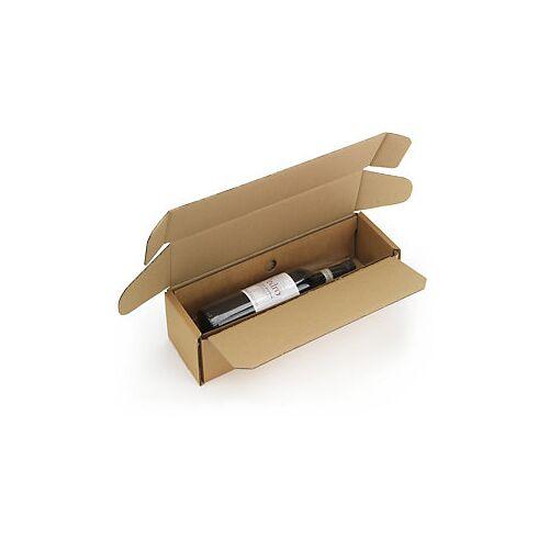 Flaschenverpackung mit Folienfixierung 1 Flasche