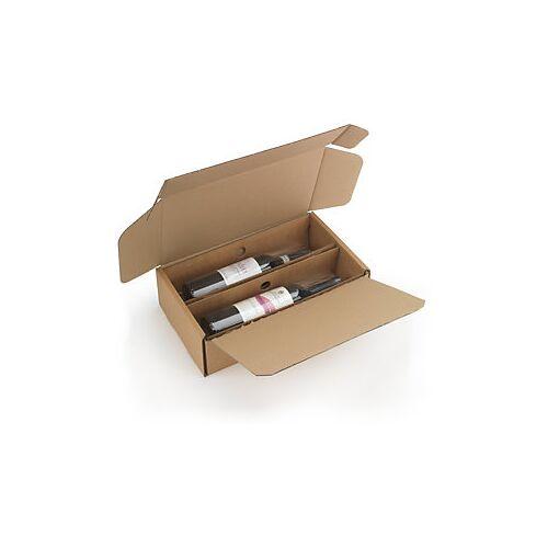 Flaschenverpackung mit Folienfixierung 2 Flaschen