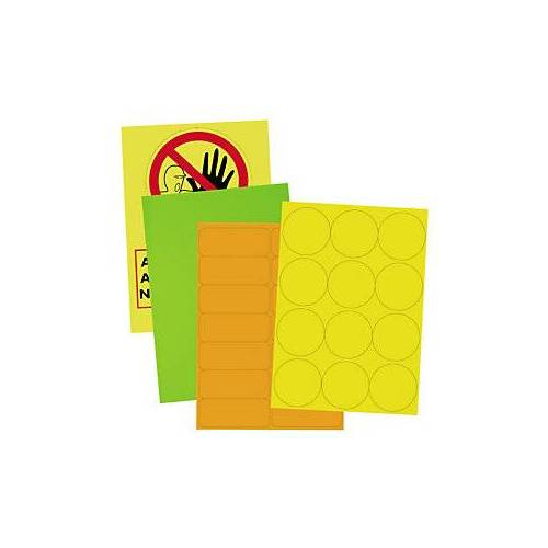 Fluoreszierende Papier-Etiketten 210 x 297 mm rot