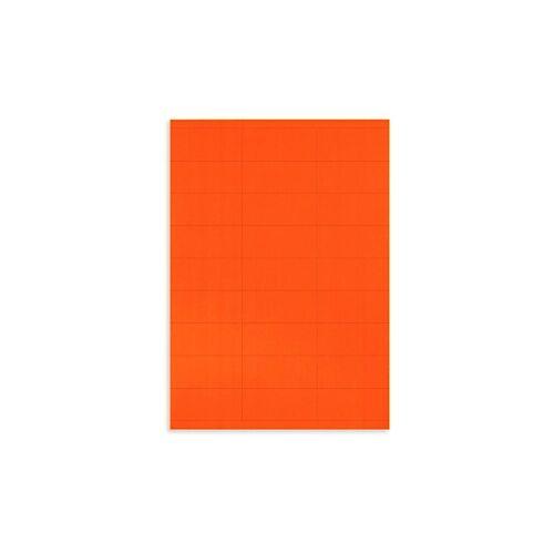 Fluoreszierende Papier-Etiketten 70 x 31 mm rot