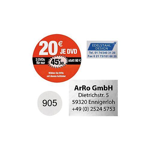 Folien-Etiketten, personalisiert 50 mm Durchmesser